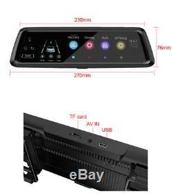 10'' HD 4G Car SUV GPS Navigation Bluetooth Wifi Rearview Mirror Camera DVR ADAS