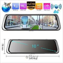 10 IPS Touch Screen Bluetooth WiFi 4G Android Car DVR Camera ADAS GPS Navi FHD