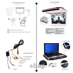 12.1 Inch Overhead Roof Monitor Car FM Video Player DVD System Remote Control