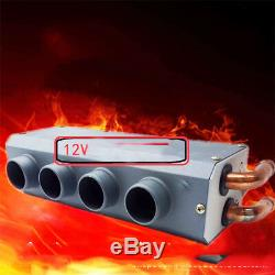 12V 80W Car Underdash Heater Defroster Demister Heating Tool 4 Hole Ports Warmer