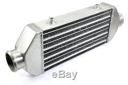 12x6.25x2.5 Universal Turbo Car Front Mount Bar & Plate Intercooler Aluminum