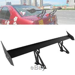 135cm Lightweight Double Deck GT Rear Trunk Wing Racing Spoiler Universal 53.15