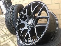 19 ALUWERKS DTM BLACK Revolve Alloy Wheels + Tyres 5x120 VW Transporter T5 T6