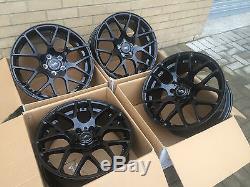 19 Aluwerks Dtm Gloss Black Alloy Wheels Vw T5 T6 Vivaro Trafic 815kg High Load