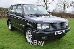 1997 Range Rover 2.5 Dse Manual Diesel P38 Blue 12 Months Mot