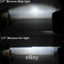 2.5Bi xenon hid Projector lens led dayrunning shrouds white angel red demon eye