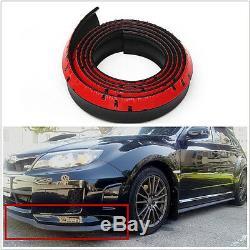 2.5m Black Car Front Bumper Spoiler Lip Kit Splitter Valance Chin Protector Kits