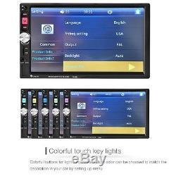 2-Din7''HD Touch Screen Bluetooth Car Radio Stereo Head Unit MP5/MP3 /USB/AUX/FM
