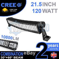 20 120w Curved Cree LED Light Bar Combo IP68 Driving Light Off Road 4x4 Boat