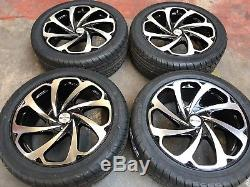 20 Arrow Black/machined Alloy Wheels+tyres To Fit Range Rover End Of Line