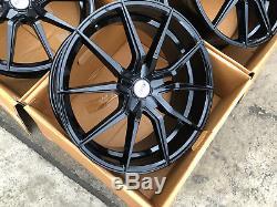 20 Lkw Gloss Black Alloy Wheels To Fit Wheels Fits Jaguar Xf 5x108
