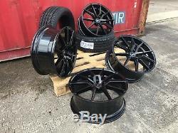 20 Spyder Black Alloy Wheels + Tyres Range Rover Sport Discovery Velar Evoque