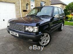 2001 Range Rover P38 2.5 Dhse (bmw Diesel) Auto Blue Service History Great 4x4