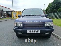2001 Range Rover P38 4.0 Hse Auto Oslo Blue Full M. O. T Only 103k F. S. H Great 4x4