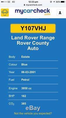 2001 Range Rover P38 96000 miles