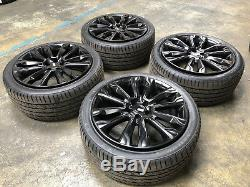 22 Alloy Wheels Riviera RV124 BMW X5 98-04 Range Rover Vogue Black USED