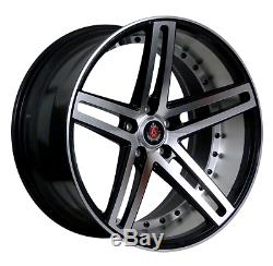22 Axe Ex20 Alloy Wheels 5x120 Fits Range Rover Vogue Sport Discovery Black Pol