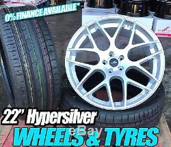 22 Bmw Range Rover Sport Alloy Wheels And Tyres Hypersilver Dtm X5 X6 Q7