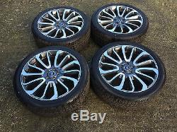 22 Genuine Range Rover Vogue Style 7 Turbine Alloy Wheels And Tyres