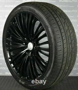 22 Lenso Land Rover Range Rover Sport Alloy Wheels BLACK With Tyres FOUR