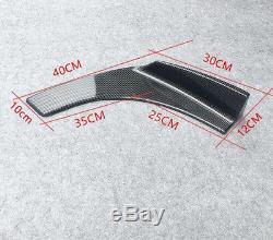 2Pcs Winglet Style Carbon Fiber Car Front Bumper Lip Diffuser Splitters Canard