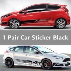 2pcs Racing Stripe Graphic Stickers Car Body Side Door Vinyl Decals Universal