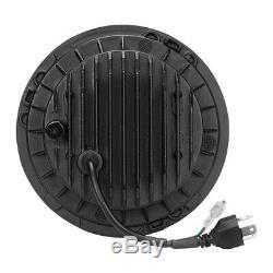 2x 7 Inch Approved LED Headlight for LAND ROVER DEFENDER TD4 TD5 90 110 UK