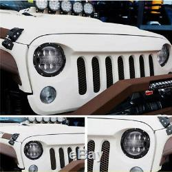 2x 7''Round Cree Dual color LED Headlight High Low Beam For JEEP Wrangler