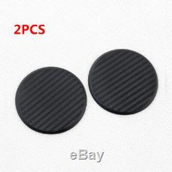 2x Black Car Vehicle Water Cups Slot Non-Slip Carbon Fiber Look Mat Accessories