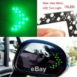 2x Car Side Rear View Mirror 14-SMD LED Lamp Turn Signal Light Accessories Kit