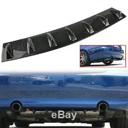 33 x 5 Lower Rear Body Bumper Diffuser Shark 7 Fin Kit ABS Spoiler Universal