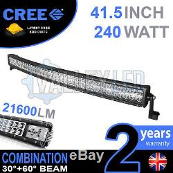 40 240w Curved Cree LED Light Bar Combo IP68 Driving Light Off Road 4WD Boat
