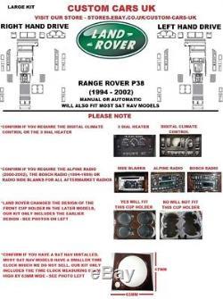 40 Piece Walnut Or Carbon Fibre Dash Kit Land Rover Range Rover P38 1994-2002