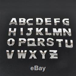40PCS 3D Car Alphabet letter Number Symbol Emblem Badge Decals Stickers Kits
