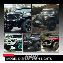 42Inch 240W Curved LED Work Light Bar Flood Spot +4 Pods Offroad SUV Truck Boat