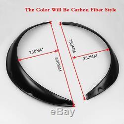 4Pcs Carbon Fiber Style Car Body Fender Flares Kit Flexible Durable Polyurethane