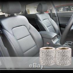 4X Crystal Car Seat Headrest Collar Decor Diamond Bling Car Interior Accessories