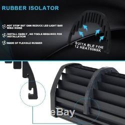 50 Curved Led Light Bar + 4 18w Fog Lamp Kit Upper Front Pickup Rv Utv Truck