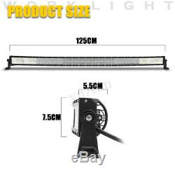 50 Inch 1560W LED 5D Curved Work Light Bar Combo Driving Offroad Lamp Car