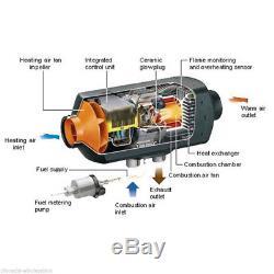 5000W LCD Car Truck Vehicles Van Air Diesel Heater Tank Adjustable Temperature