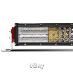 52 3000W Curved LED Light Bar 4 PODS + Harness Off Road For LANDROVER DEFENDER