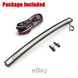 52'' 702W LED Curved Work Light Bar Combo Offroad Lamp Car Truck Offroad + Wire