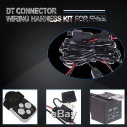 52 LED Light Bar+Cube Pods+Wiring Kit+Bracket Kit For 2007 2017 Jeep Wrangler
