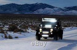52 LED Work Light Bar Flood Spot Light Lamp Off-road Truck 4WD ATV IP68 300W