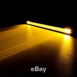 52inch Straight 3915W LED Light Bar Combo Offroad White&Amber + 4'' POD Wiring