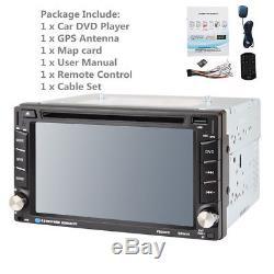 6.2 HD 2DIN Car DVD CD MP5 Player Head Unit Radio Stereo Bluetooth+GPS Map Card