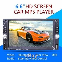 6.6 inch Touch Screen Car MP5 Player Bluetooth Radio Stereo with Rearview Camera