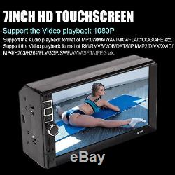7 2 DIN Car Radio Audio Touch Screen MP5 Player AUX TV USB Mirror Link For GPS