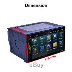 7 Android WIFI Double 2DIN Car Radio Stereo MP5 Player Sat GPS Navigation Touch