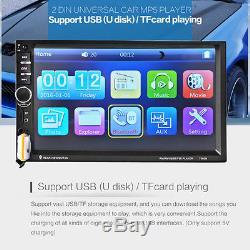 7 Car Bluetooth Radio Stereo Head Unit Player MP5 /USB/AUX Free Rear Camera NEW